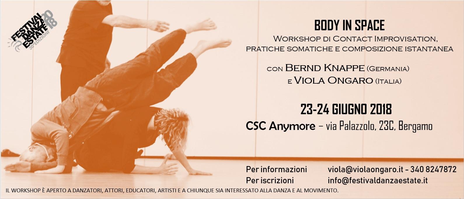 seminario - workshop Bergamo Bernd Knappe - Viola Ongaro